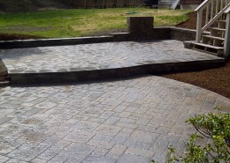 Techo-Bloc patio and step