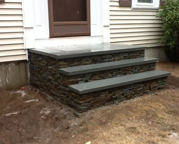 Natural Stone Staircase and Walkway