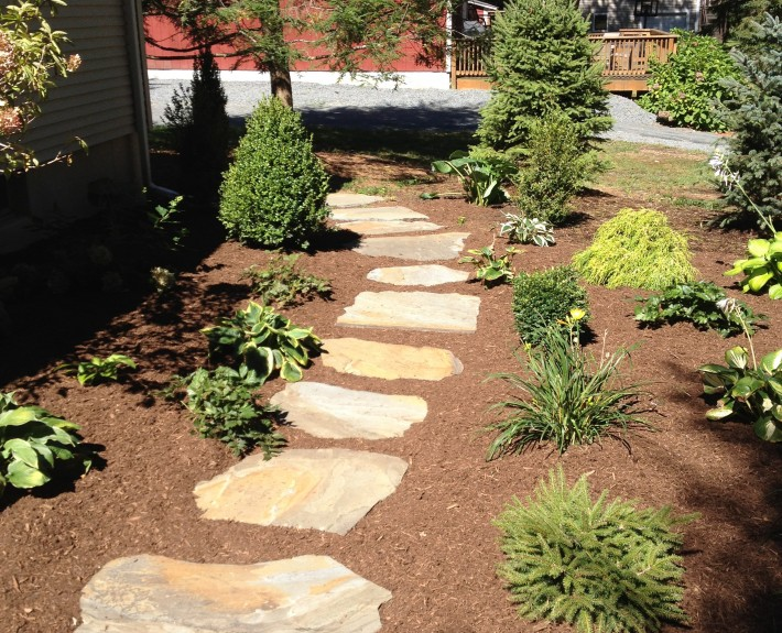 Natural Stone step stone walkway