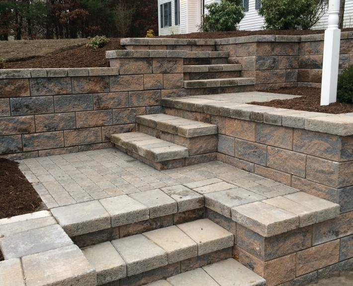 Techo-Bloc Staircase and Retaining Walls