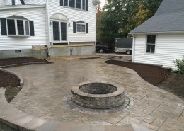 Unilock Patio and Fire Pit
