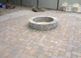 Techo-Bloc patio and Fire Pit
